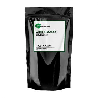 150ct Green Malay Kratom Capsules