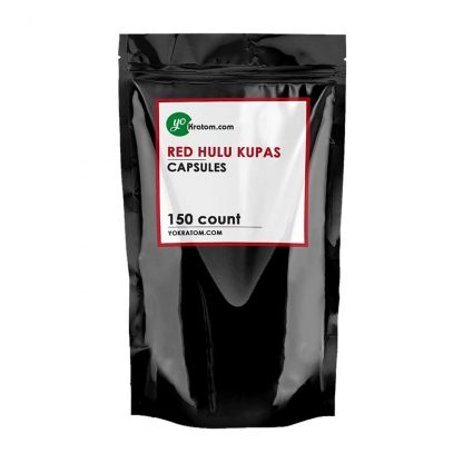 150ct Red Hulu Kratom Capsules