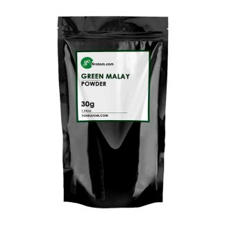 30g Green Malay Kratom Powder - 1.06oz