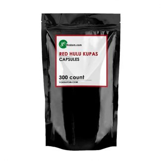 300ct Red Hulu Kratom Capsules
